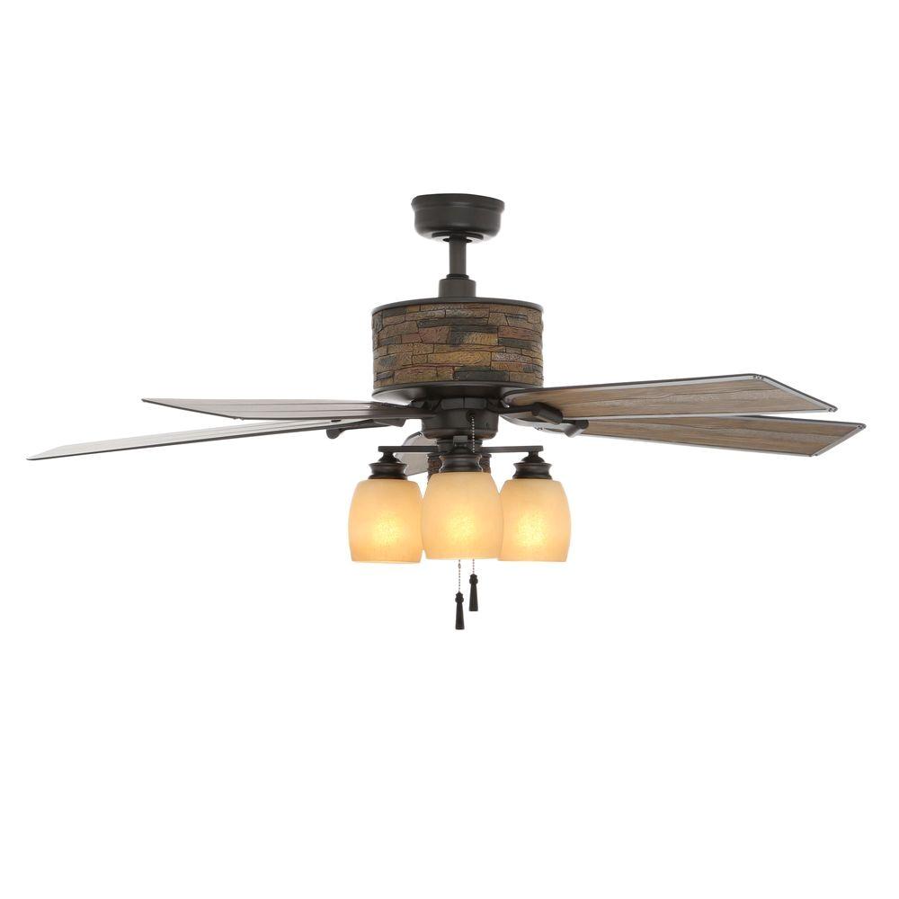 Ceiling Fans with Regular Light Bulbs Hampton Bay Ellijay 52 In Indoor Outdoor Natural Iron Ceiling Fan