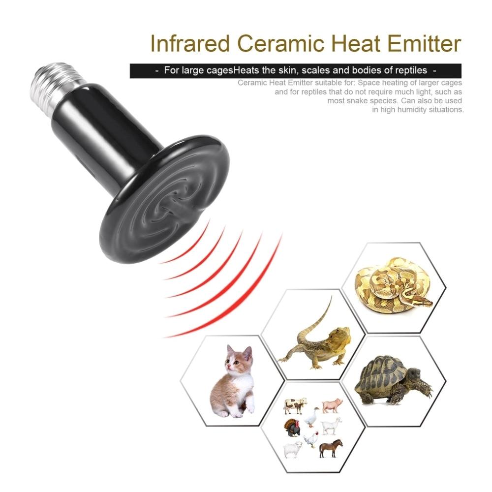Ceramic Heat Lamp for Chickens Infrared Ceramic Heat Emitter Lamp Bulb Pet Appliance Heat Lamp for