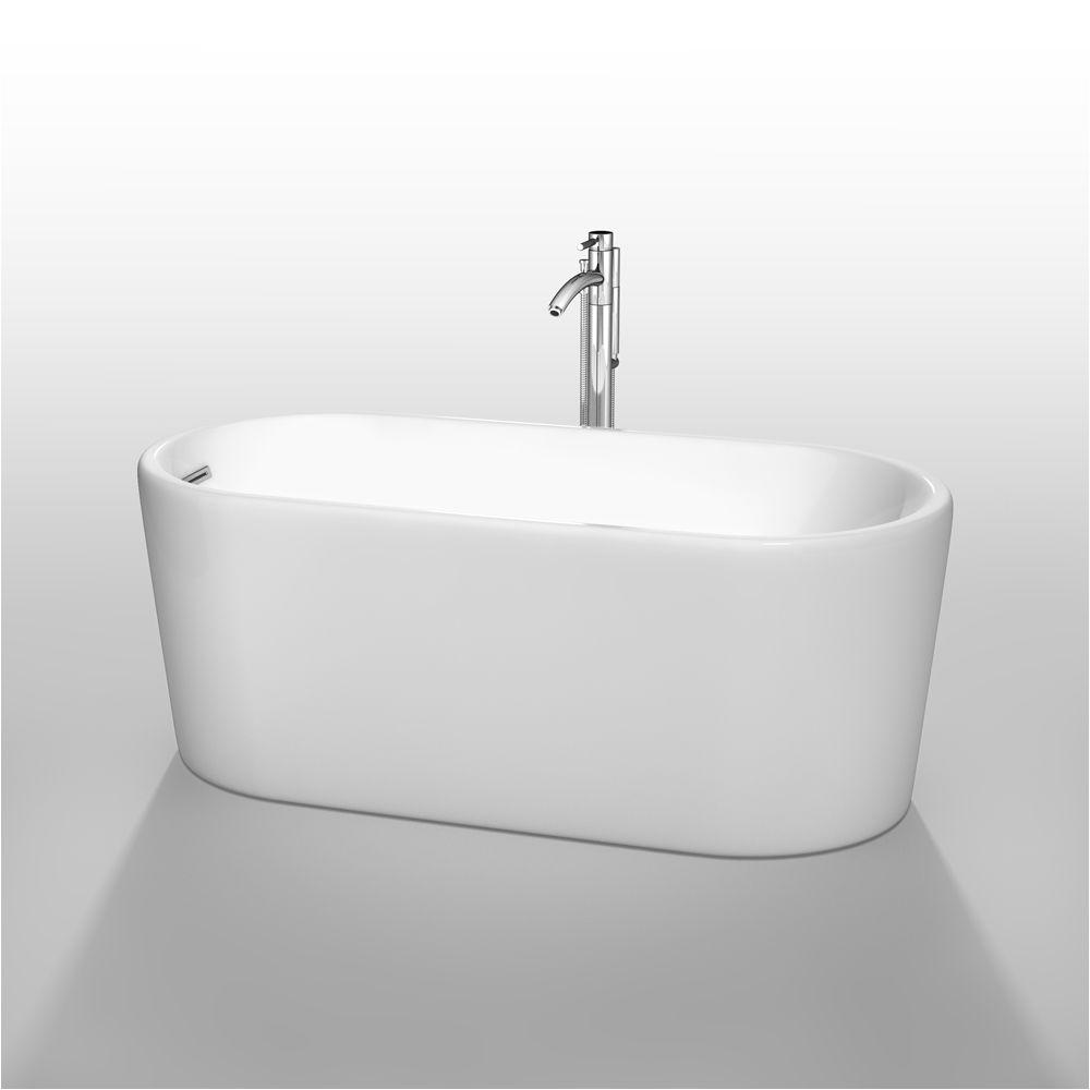 buy ursula 59 soaking bathtub by wyndham collection white at modernbathroom com