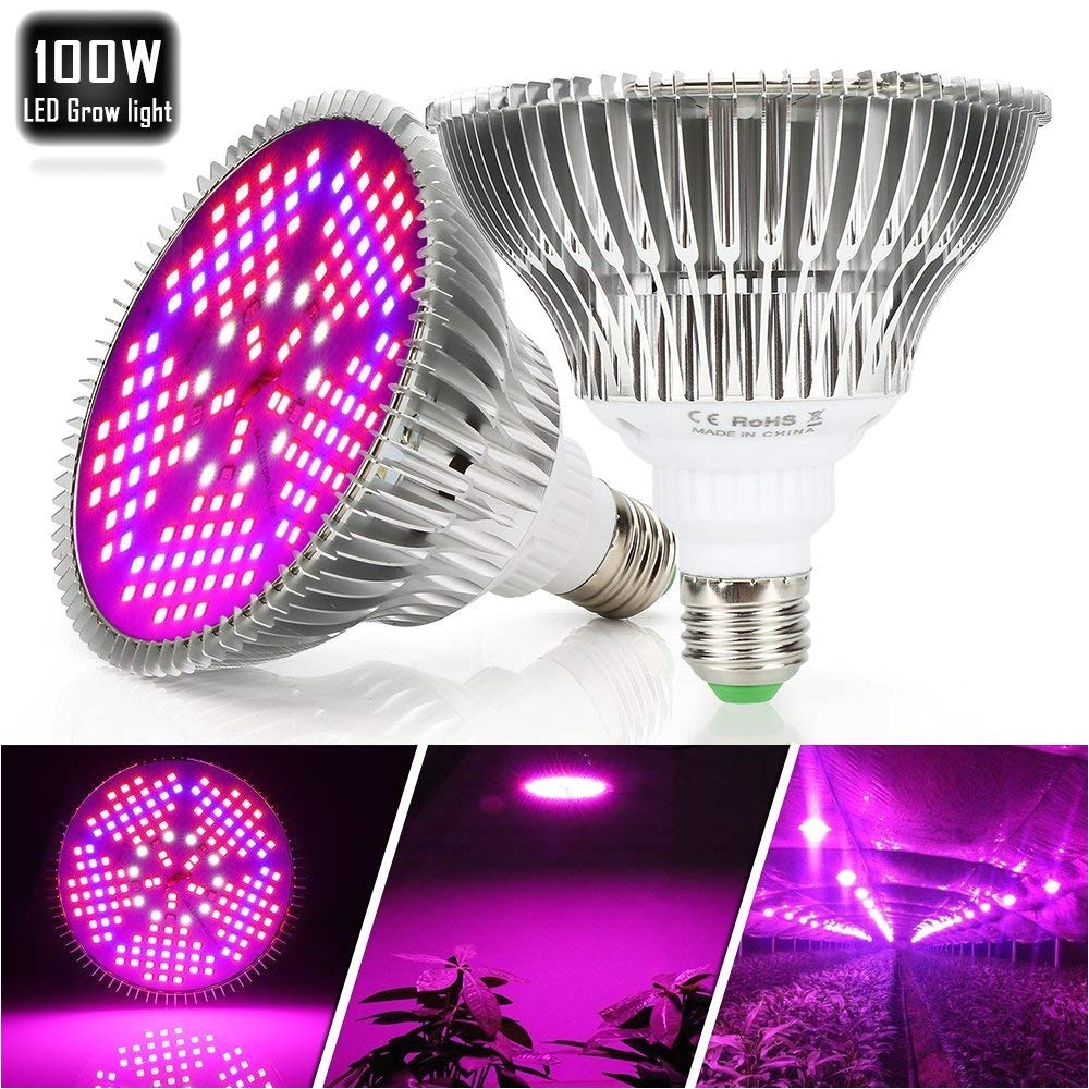 amazon com 100w led plant grow light bulb full spectrum 150 leds indoor plants growing light bulb lamp for vegetables greenhouse and hydroponic