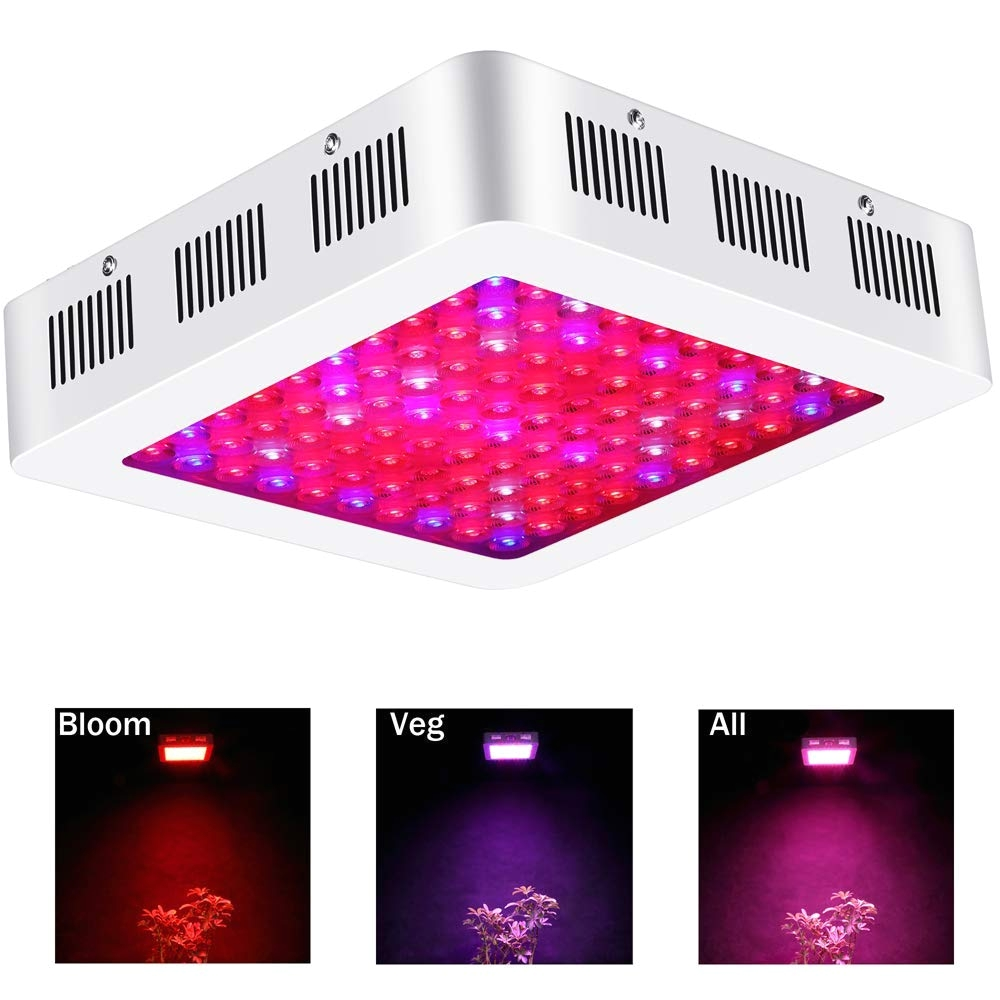 amazon com led grow light 1000 watt by farmogo 3 triple chips full spectrum grow lights for plants 2switches control vegflower in greenhouse tent plant