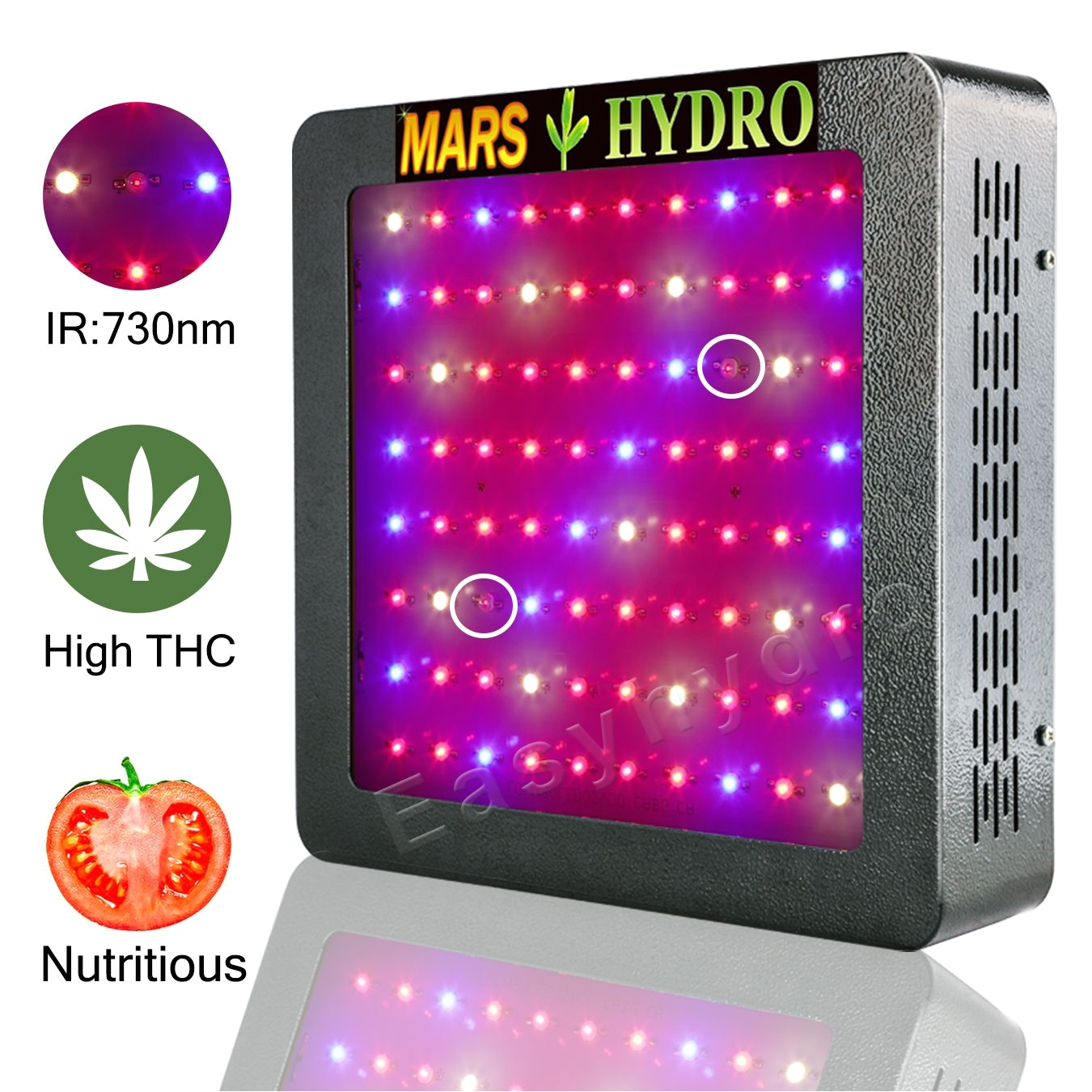 marshydro mars ii 400w indoor hydro led grow lights for full spectrum veg bloom medical herb plants with growth bloom switchesir best cooling system save