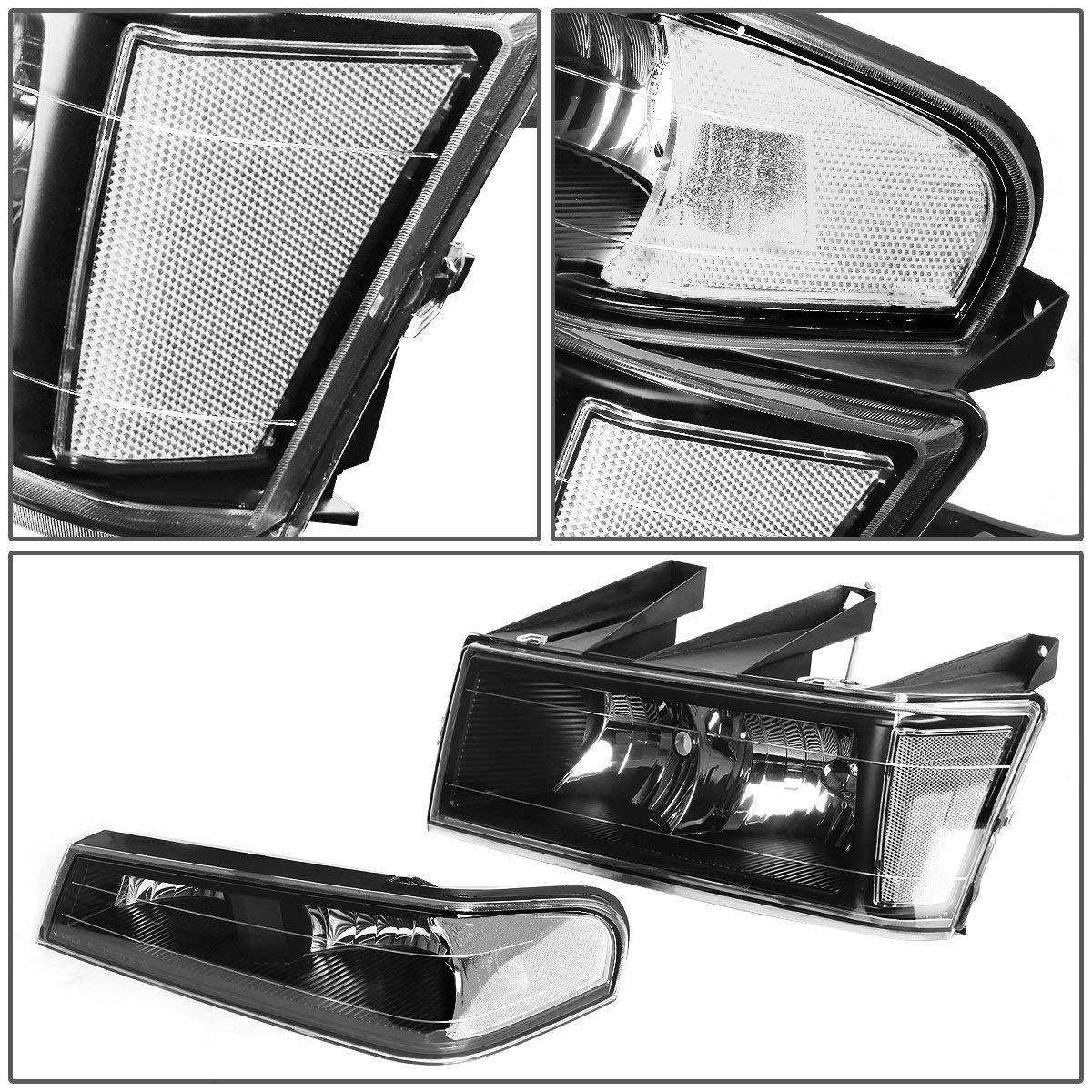 amazon com for chevy colorado gmc canyon 4pcs black housing clear corner headlight bumper light automotive