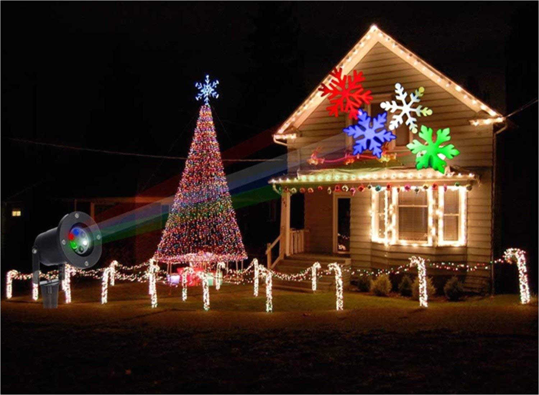 abcdok laser christmas lights outdoor holiday light garden projector laser lights led landscape spotlight for home decoration birthday party amazon com