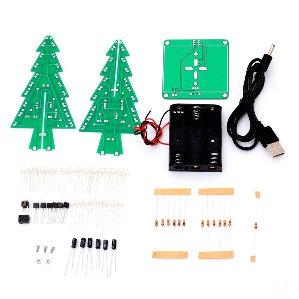 christmas light controller diy awesome 1set 3d christmas tree led diy kit red green yellow led
