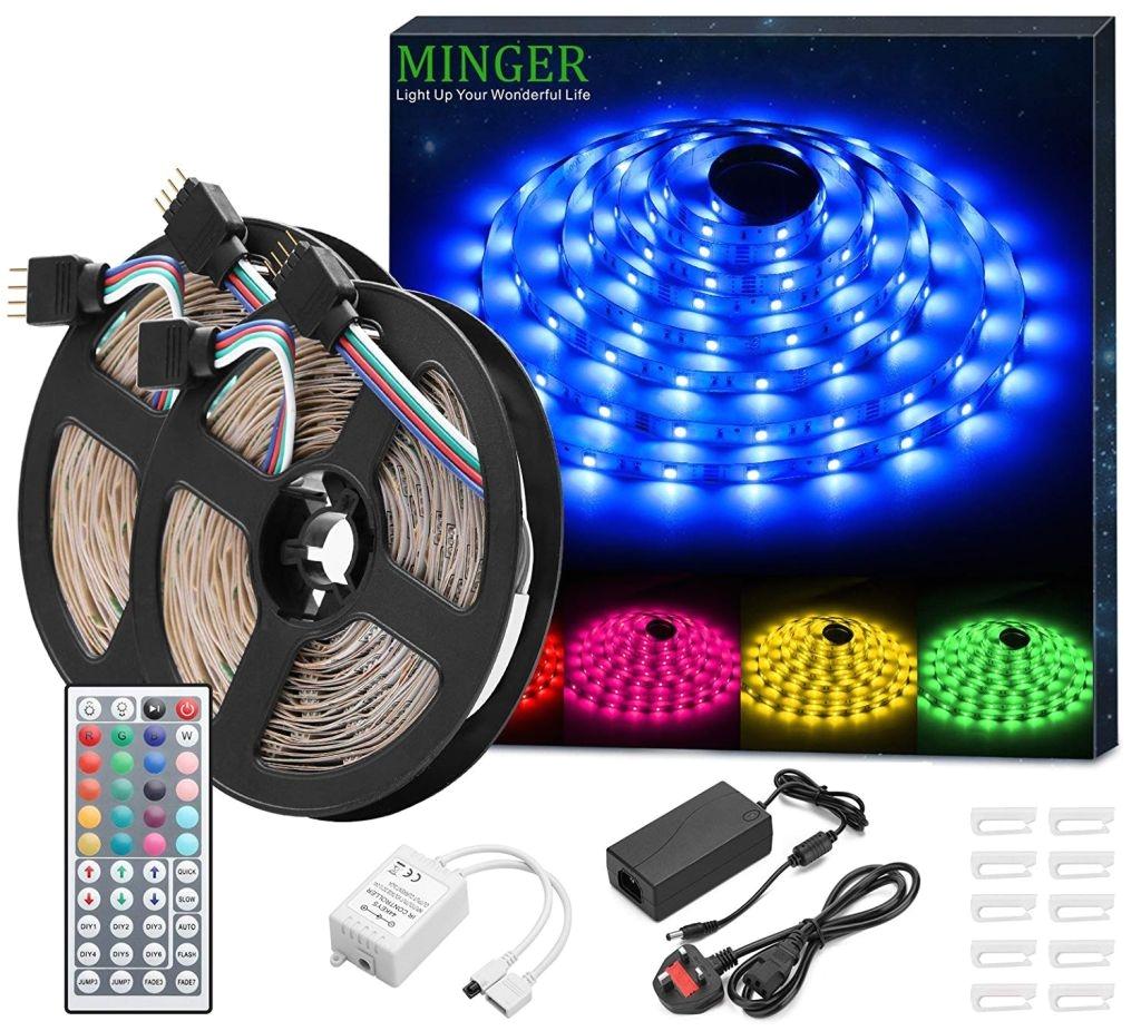 christmas light controller kit fresh decor ideas minger led strip lights kit non waterproof 2x5m 10m