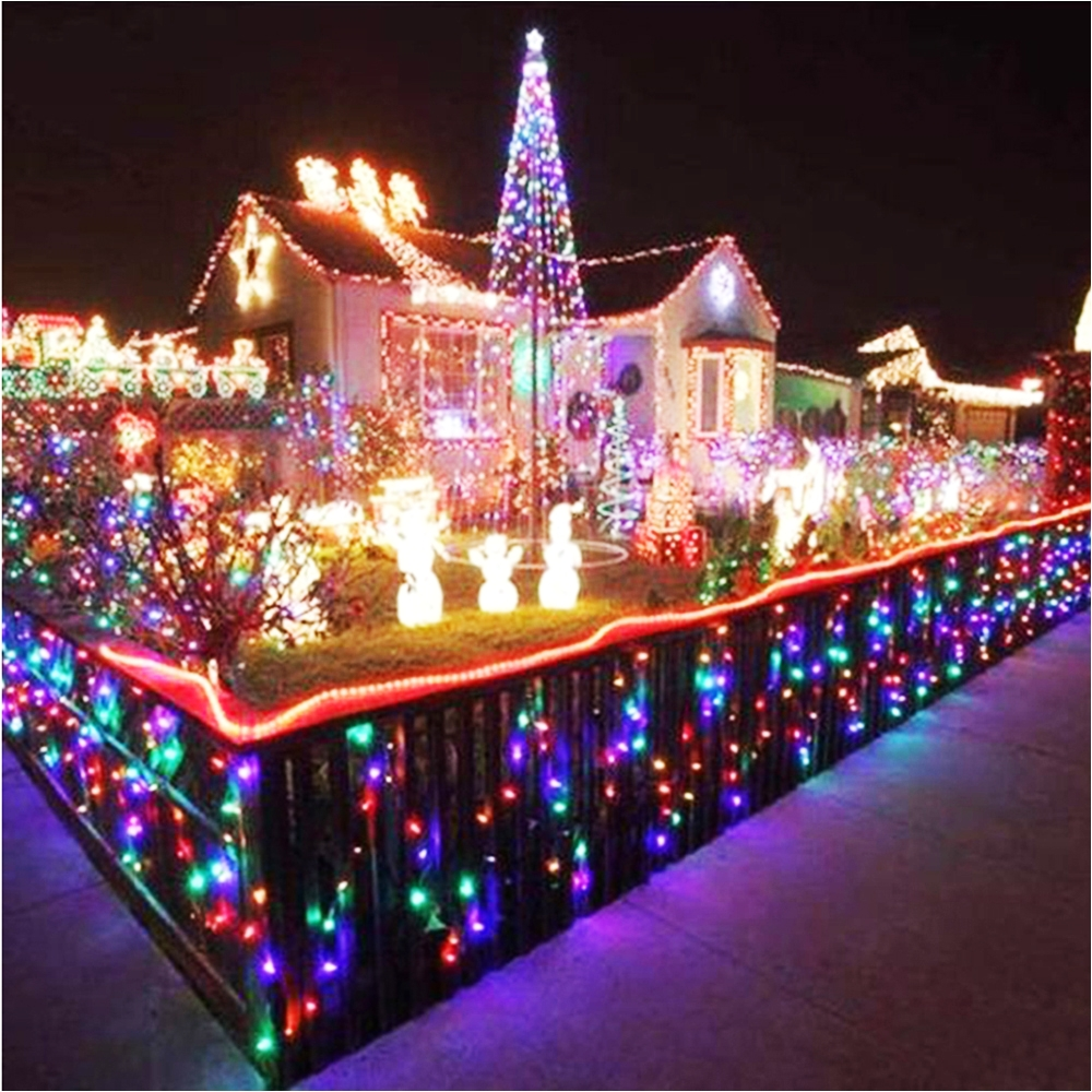 holiday led string lights christmas tree house courtyard party garden decor 10m 100 leds ac220v 110v 9 colors fast ship l in led string from lights