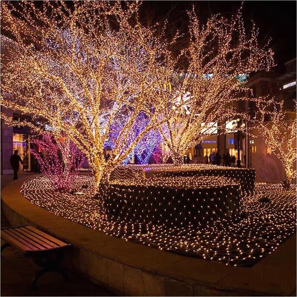 light tree led string lights 100leds with eu us plug for christmas tree house courtyard party garden holiday decor lantern q in led string from lights
