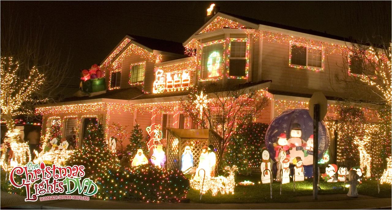 beautiful christmas lights on houses christmas lights display of