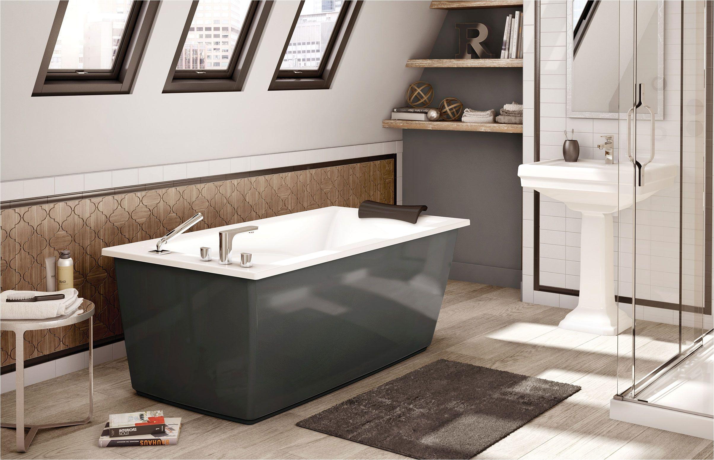 maax optik f 6032 thunder gray freestanding bathtub www maax com
