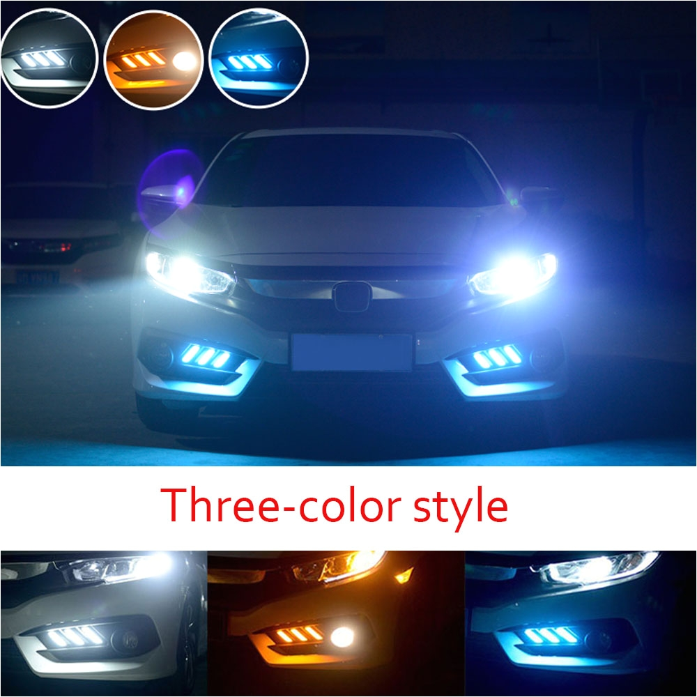 castaleca led drl daytime running light two style auto accessories brake lights rear bumper lamp kit
