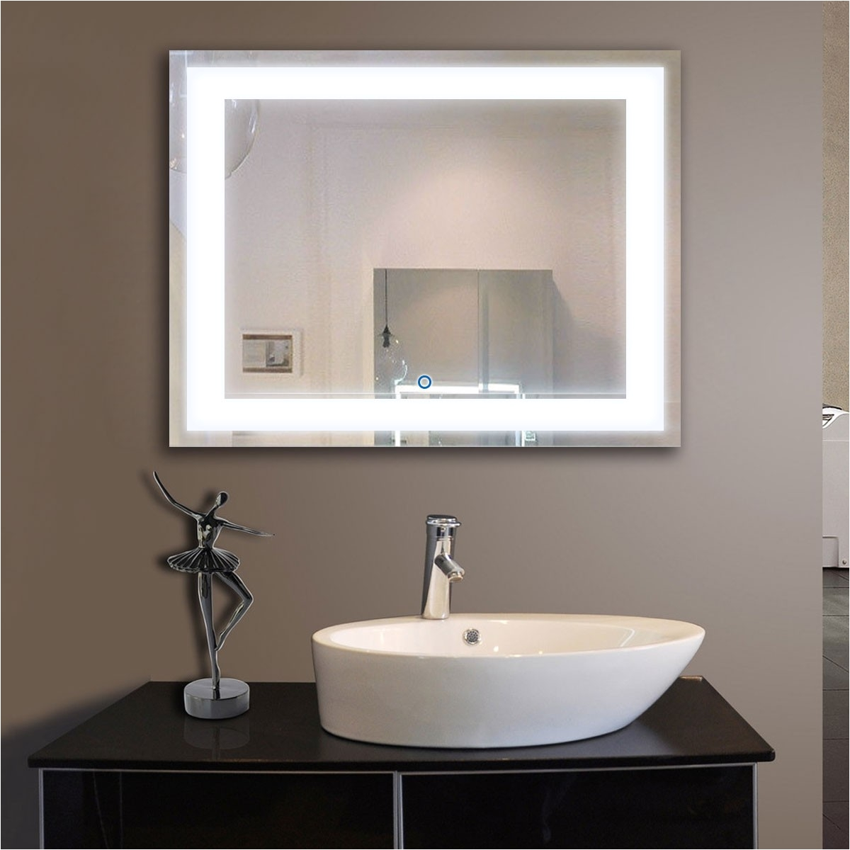 36 x 28 in horizontal led mirror touch button dk od ck010