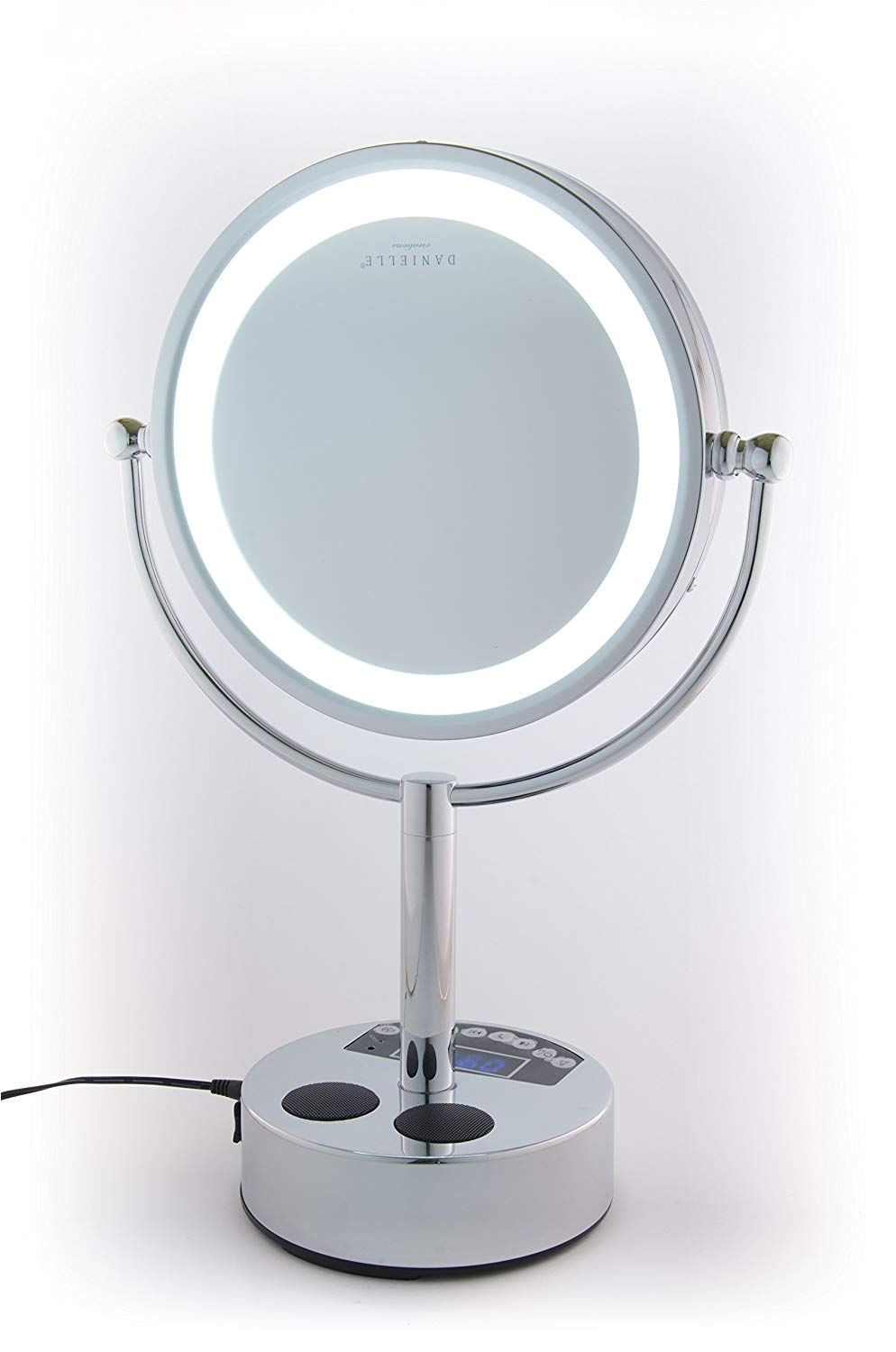 amazon com danielle creations chrome led lighted 2 sided swivel vanity make up mirror 10x magnification beauty