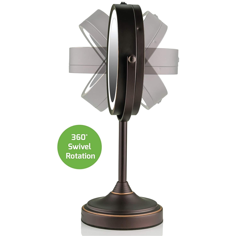 Conair Makeup Mirror Light Bulb Amazon Com Ovente Led Lighted
