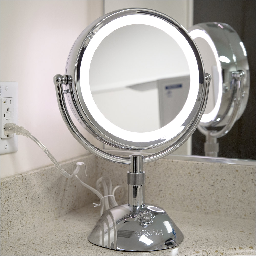 conar best lighted makeup mirror in chrome finish