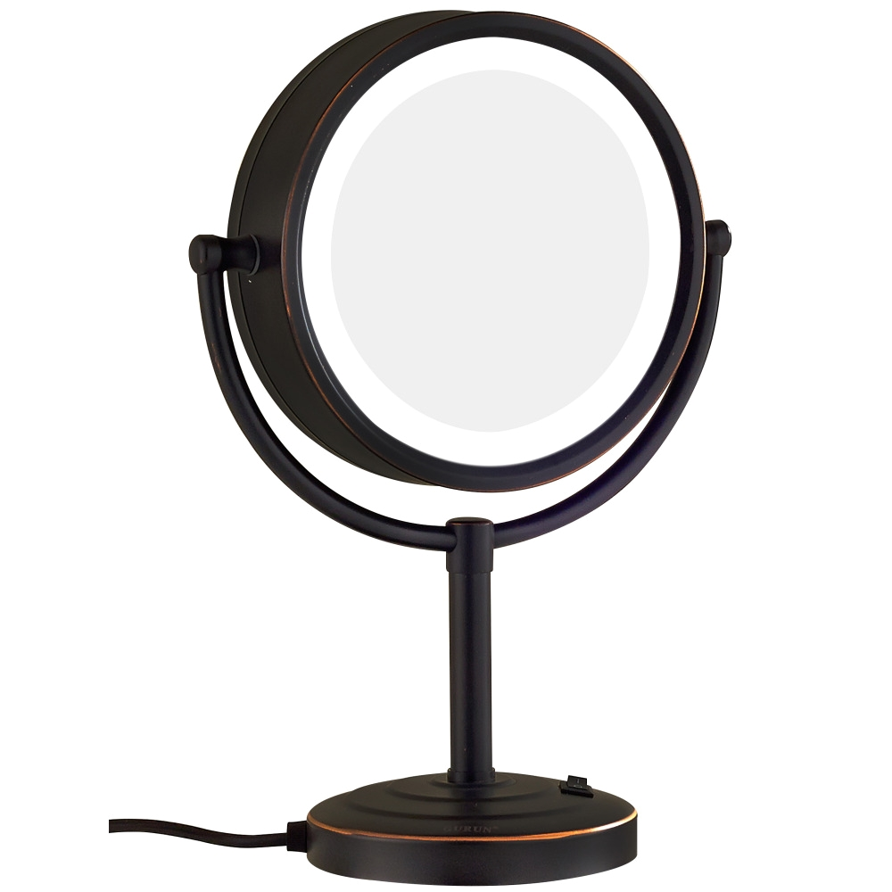 gurun oil rubbed bronze lighted makeup mirror with 3 mode lights and 10x 1x magnification standing mirrors on dressing table in makeup mirrors from beauty