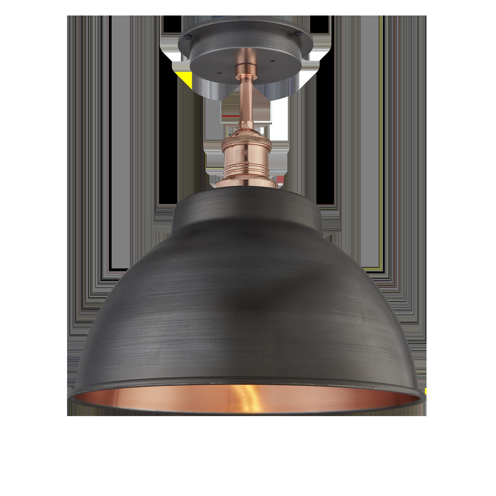 brooklyn outdoor bathroom dome flush mount 13 inch pewter copper