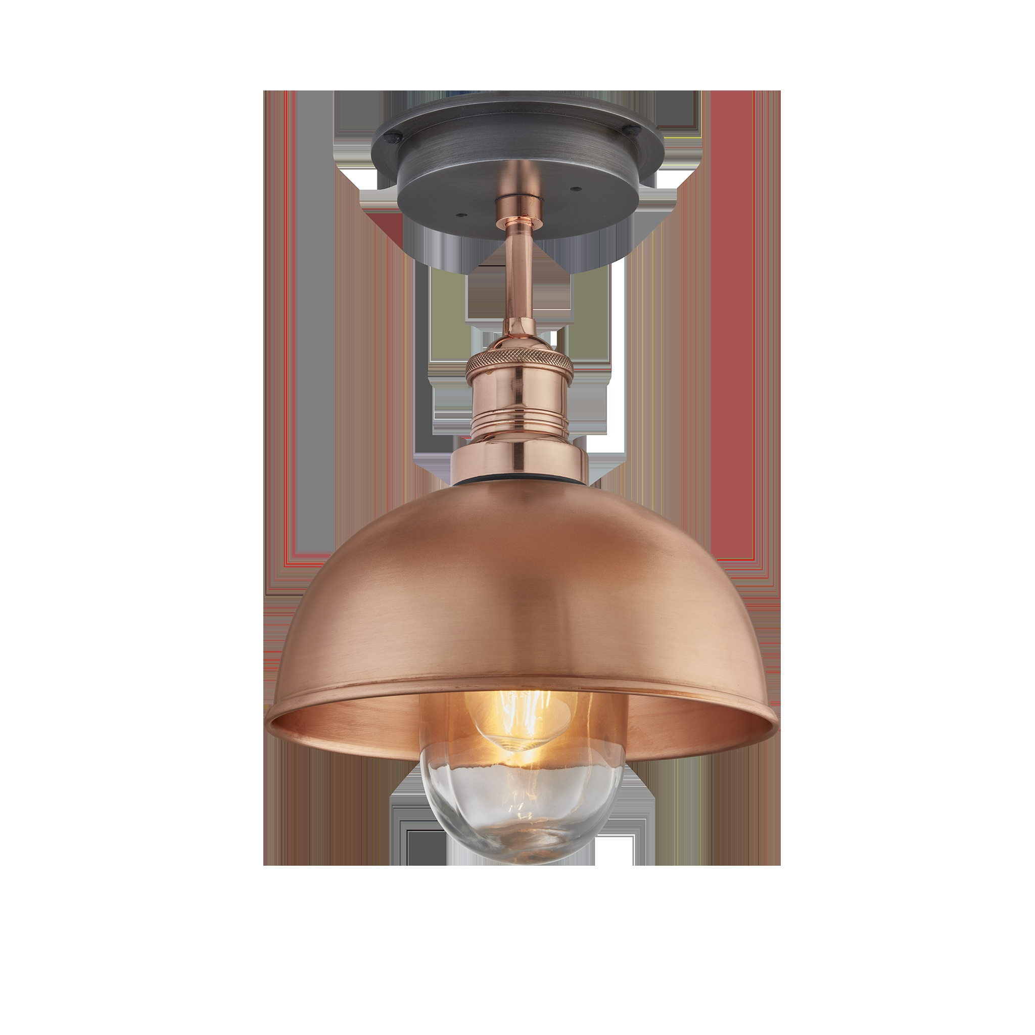 brooklyn outdoor dome flush mount 8 inch copper john diven co