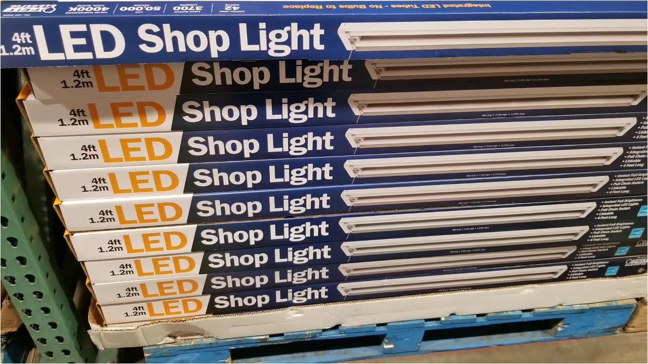 Costco Led Flood Lights Costco Feit 4 Ft Led Shop Light 20 Youtube