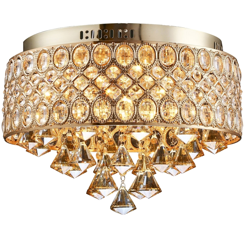 flush mount gold led ceiling lamp led crystal lights e14 bulb ceiling light indoor lighting kitchen dia 40cm 110220v zxd0026 in ceiling lights from lights