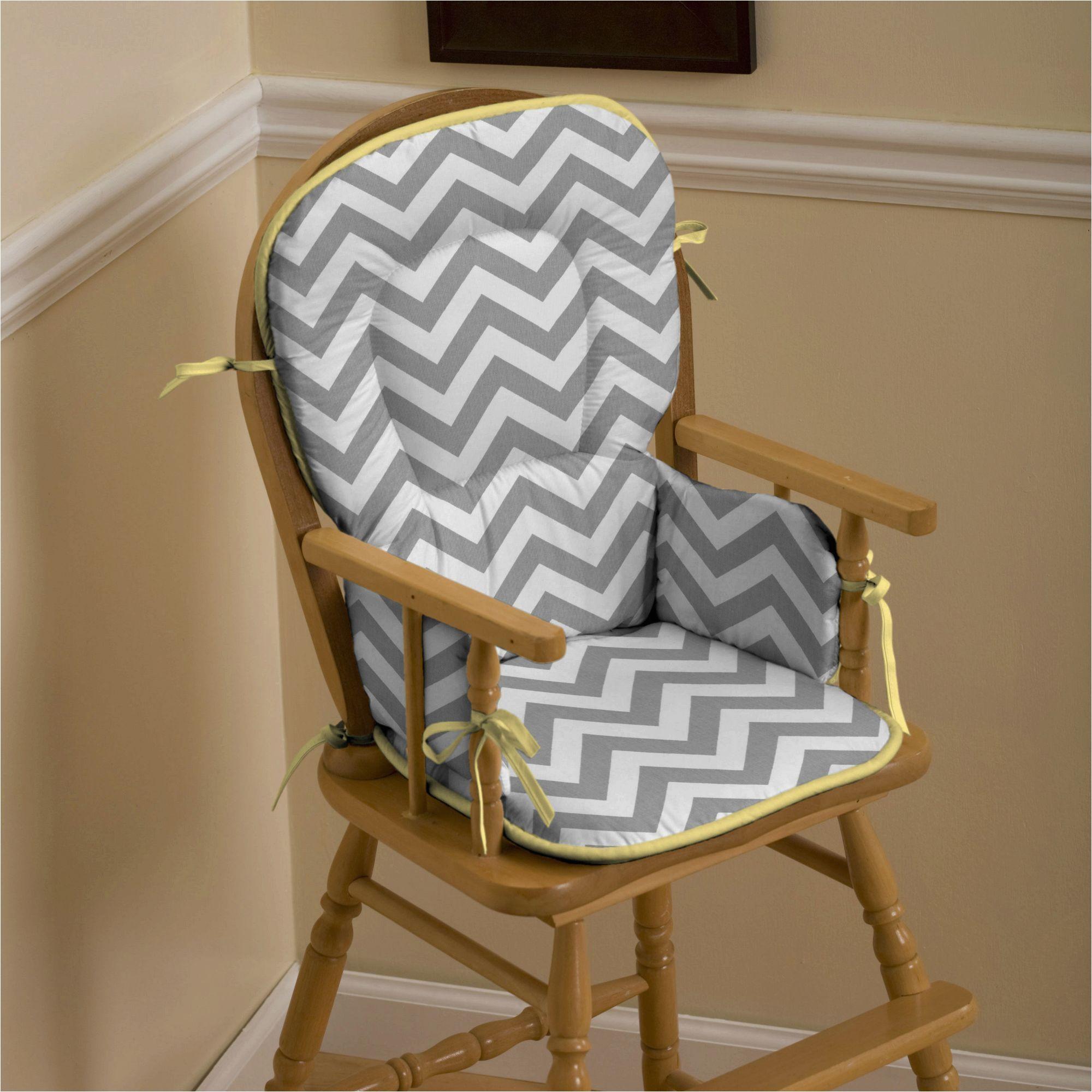 full size of chaircustom chair cushions gray and yellow zig zag high chair pad