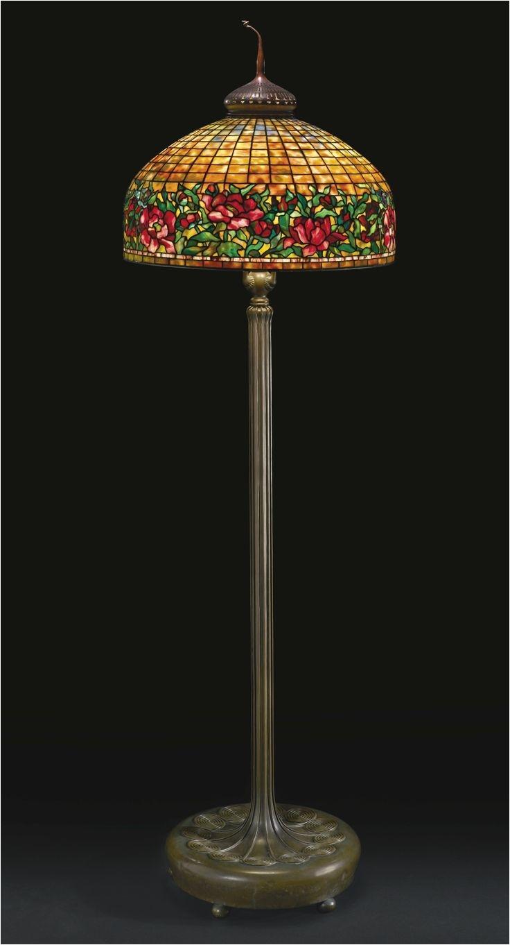 tiffany studios peony border floor lamp circa 1910