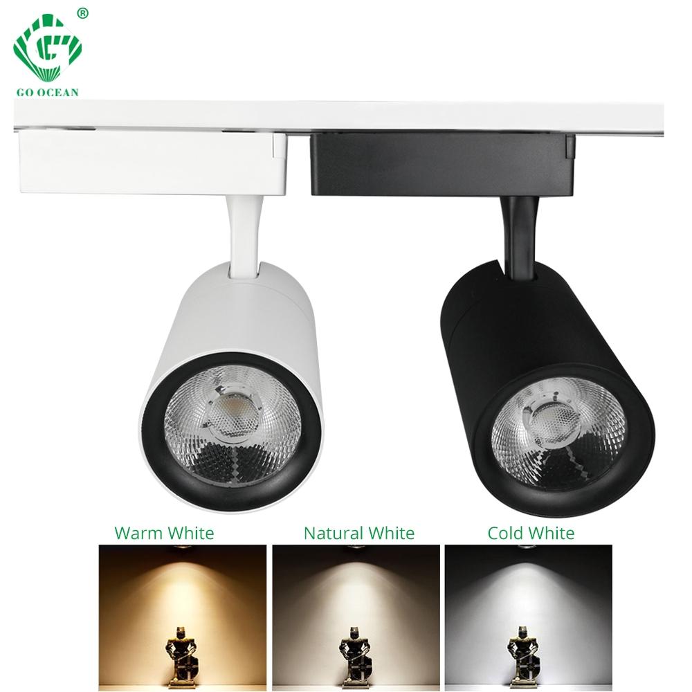 Desk Spotlight Lamp Led Track Light 20w 30w Cob Rail Lamp Spot for Clothing Shop Shoe