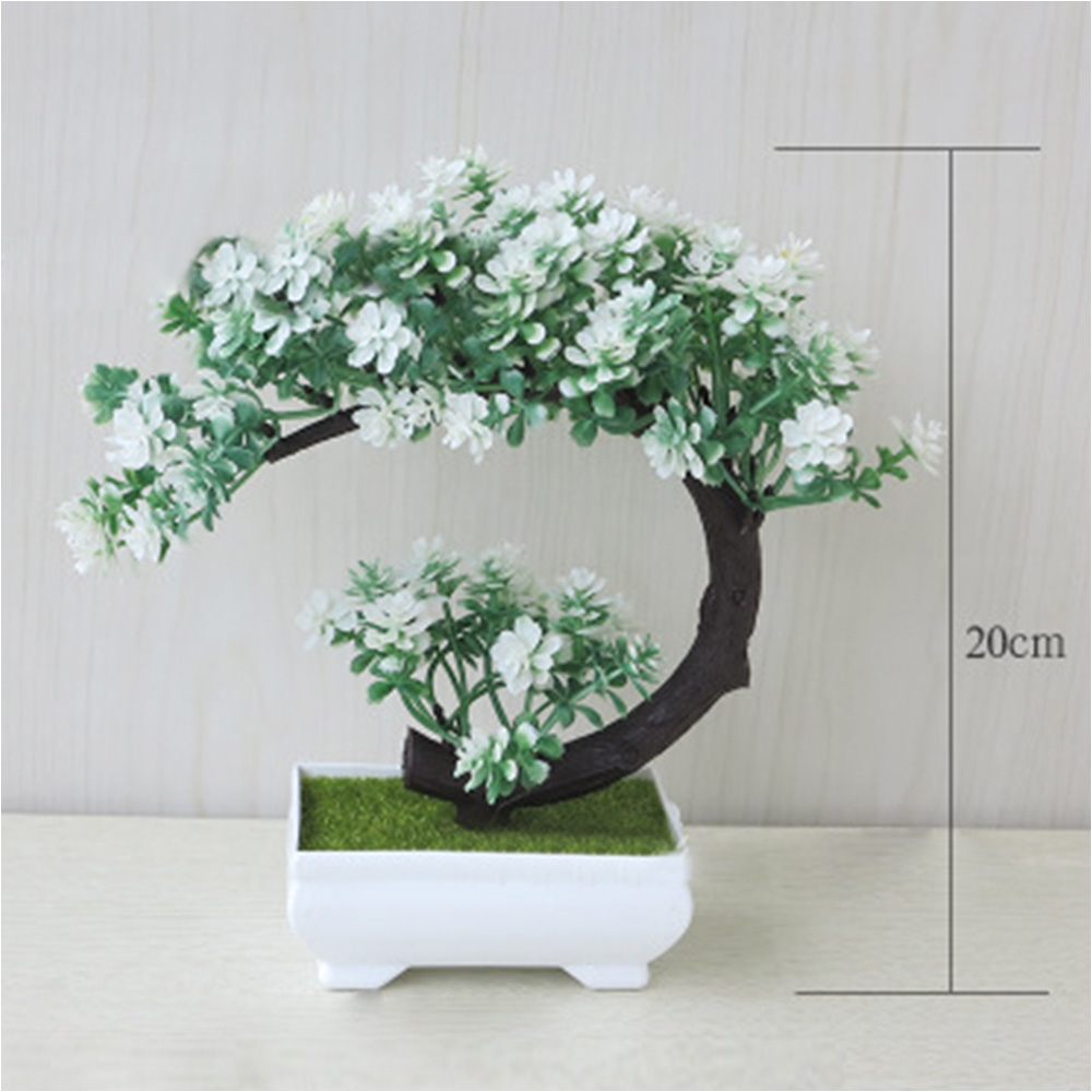 aliexpress com buy for office home 19cm decoration small ornaments desktop simulation bonsai tree in square pot artificial plant decoration from reliable