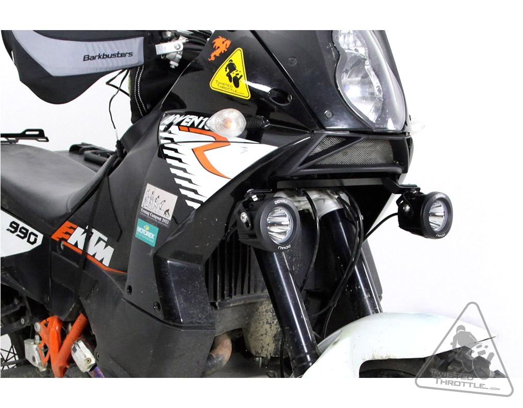 denali auxiliary light brackets for ktm 990 adventure r s dakar baja