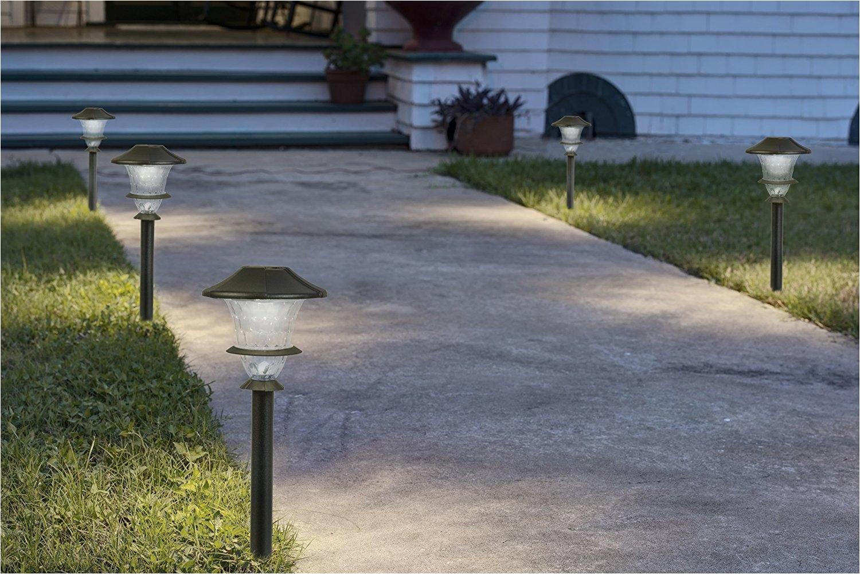 paradise by sterno home low voltage cast aluminum 0 3w led path light kit 6 pack landscape path lights amazon com