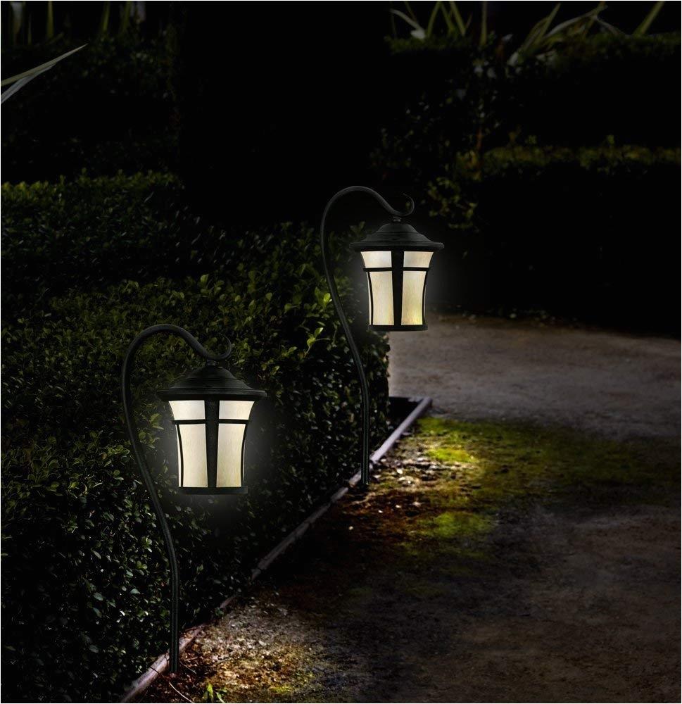 textured black led carriage landscape light with hook landscape path lights amazon com