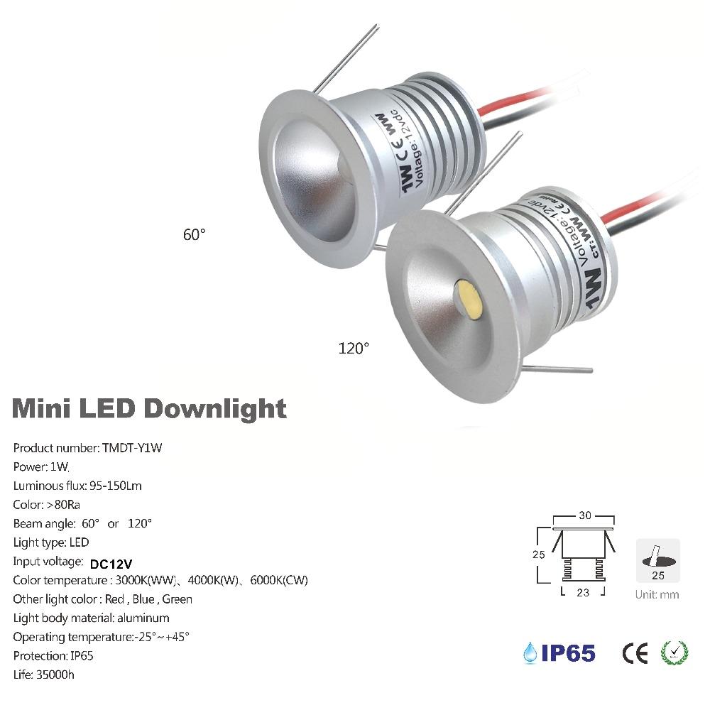 aliexpress com buy 1w mini led spotlight 25mm cutout recessed under cabinet light 60d 120d diy home decoration lighting dc12v input lamp 40pc from