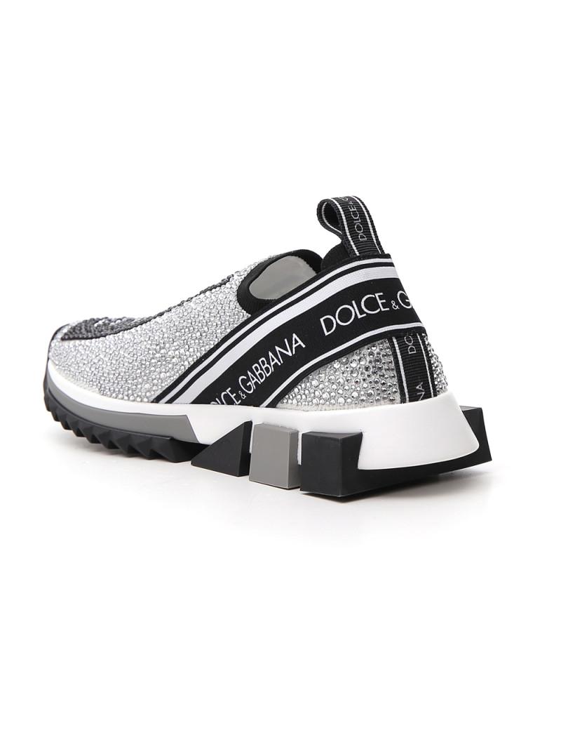 dolce gabbana crystal embellished sneakers
