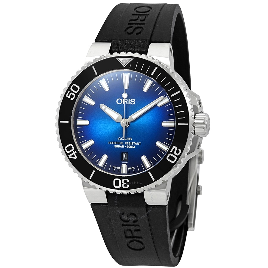 oris aquis automatic blue dial men s watch 01 733 7730 4185 set rs