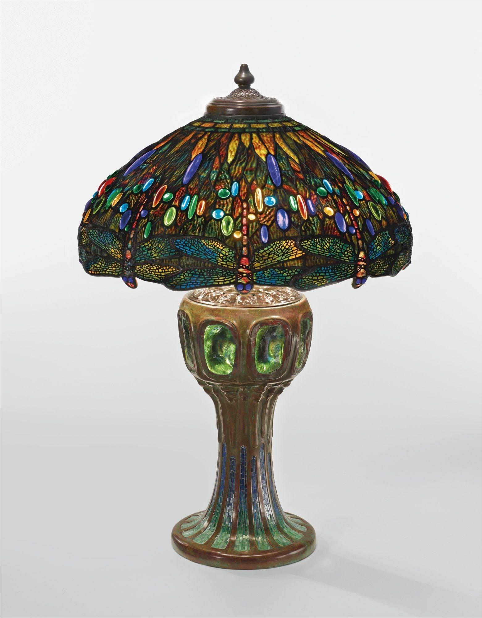 tiffany studios dragonfly table lamp shade impressed tiffany studios new york base impressed tiffany