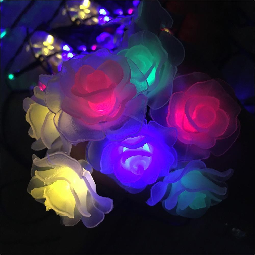 4m 20leds rose led string lighting nightlight multi valentine day flower party wedding christmas fairy decor with 220v eu plug paper lantern string lights