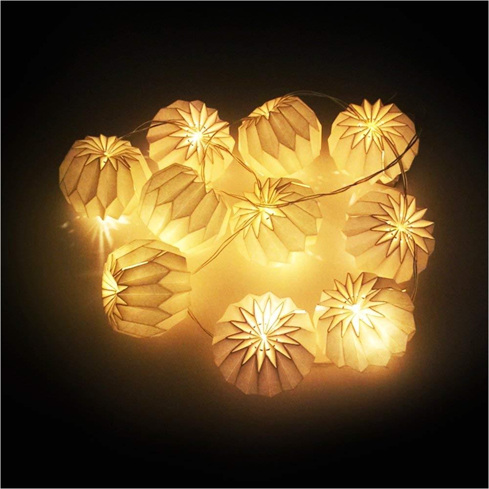 amazon com bosheng diy white diamond shaped white lanterns string lights great for weddinghomebedroomyardpartygarden to decorations 5 5 ft toys