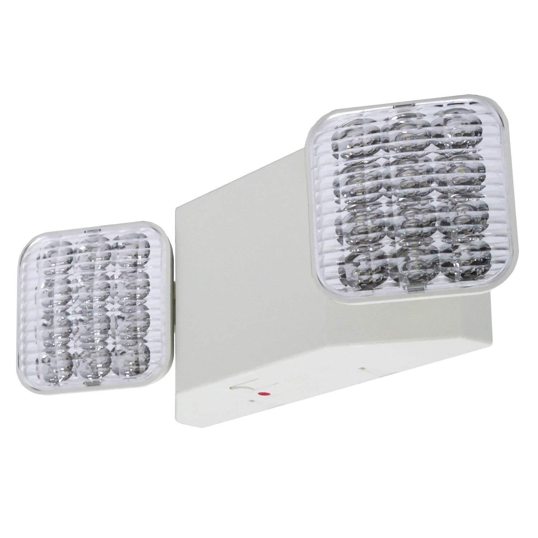 lfi lights 2 pack ul certified hardwired led emergency light standard elw2x2 amazon com