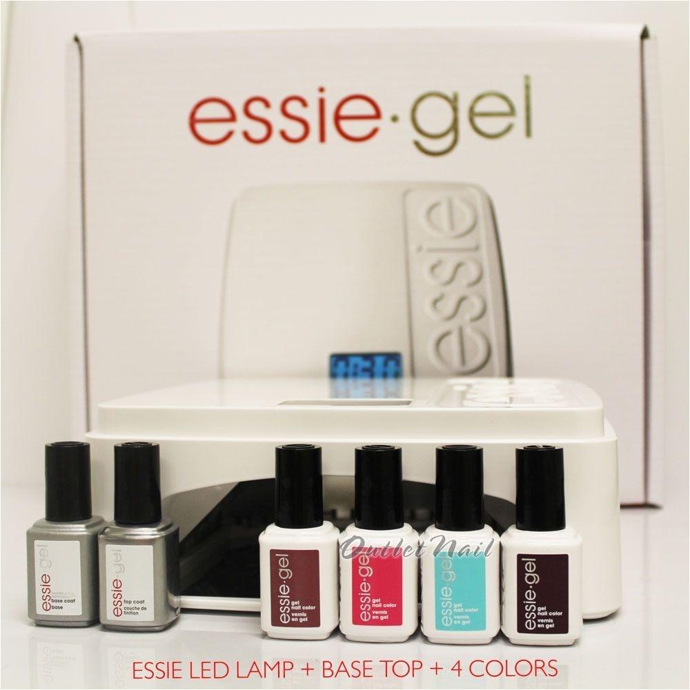 essie gel starter basic kit led lamp professional light base top 4 uv color ebay