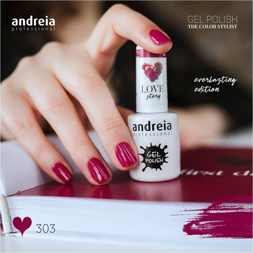 dacouvrez le nouveau vernis gel andreia 303 first date de la nouvelle collection love story semi