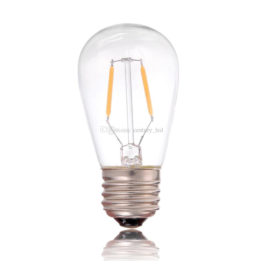 vintage led filament bulb light st45 edison style 1w 2200k 110v 220v retro decorative chandelier pendant light flood light bulbs bulb types from century led