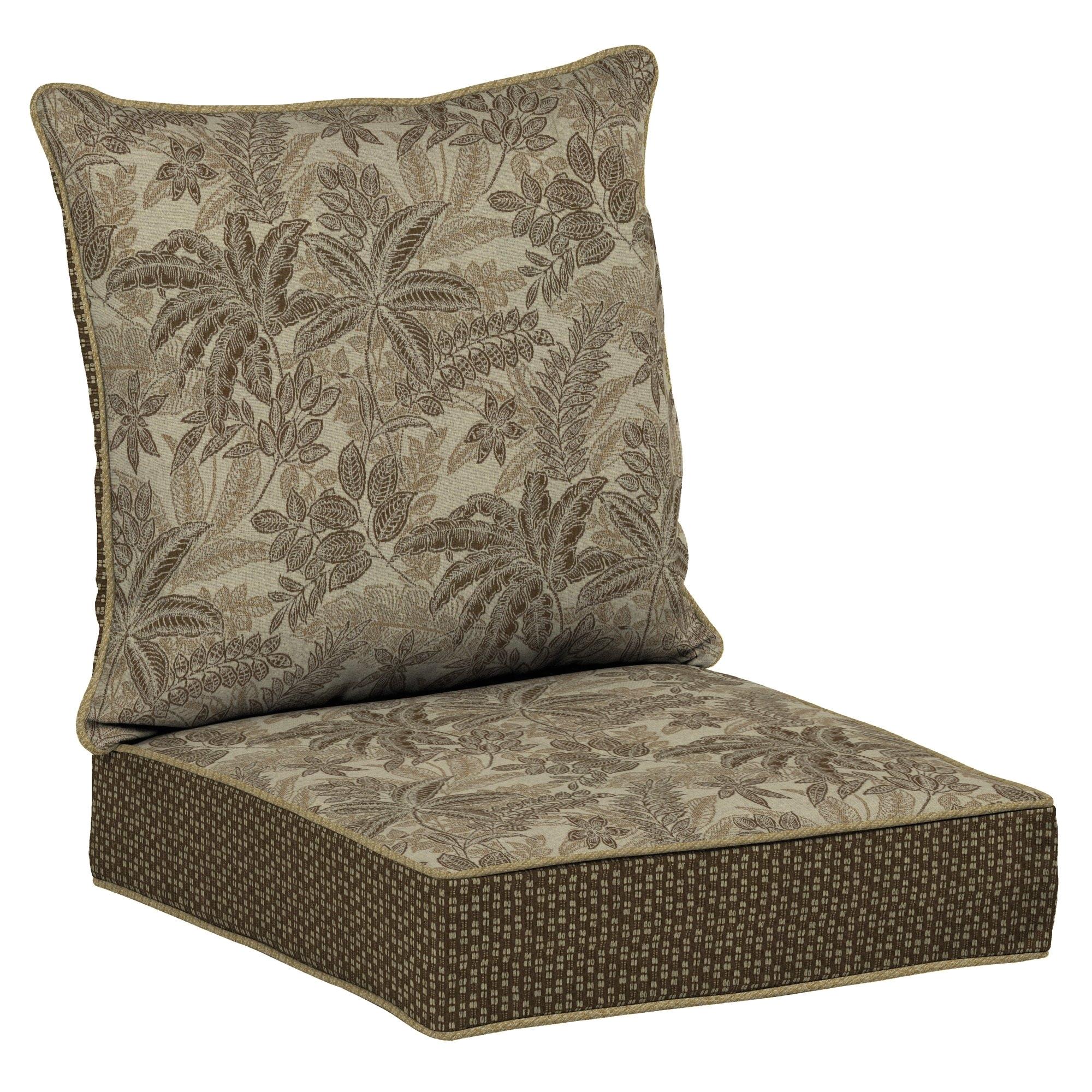 "shop bombaya outdoors palmetto mocha snap drya""¢ deep seat cushion set free shipping today overstock com 15273942"