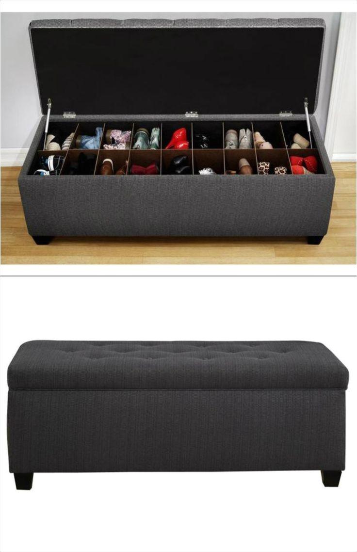 the sole secret shoe storage bench candice charcoal