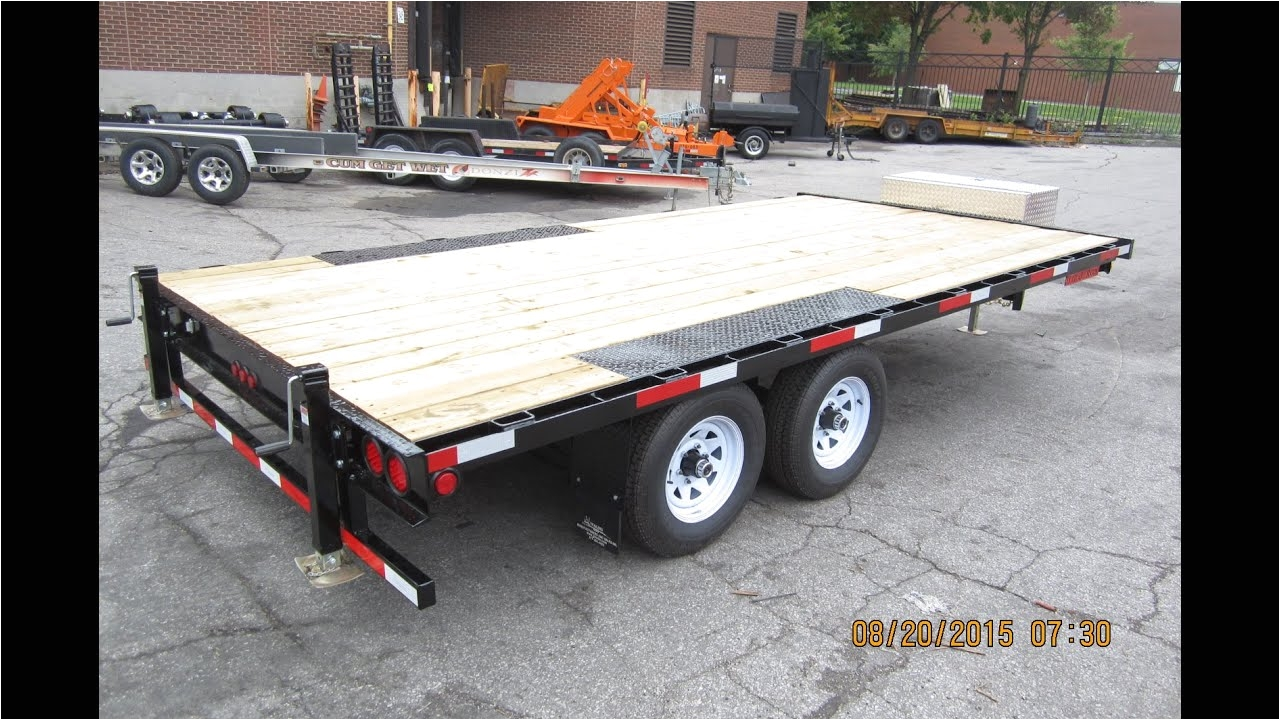 od 2 deck over wheels style trailer