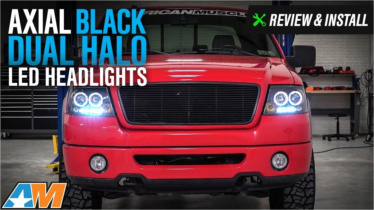 2004 2008 f 150 axial black dual halo led projector headlights review install