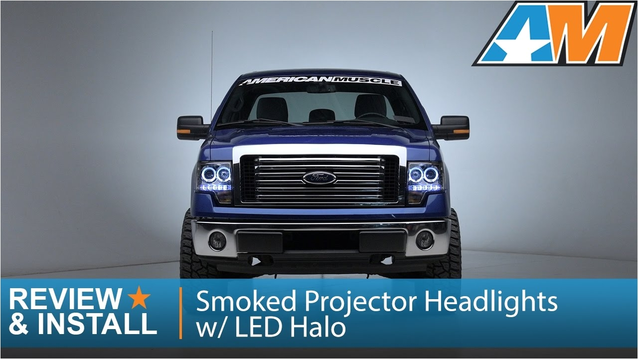 2009 2014 f 150 smoked projector headlights w led halo review install