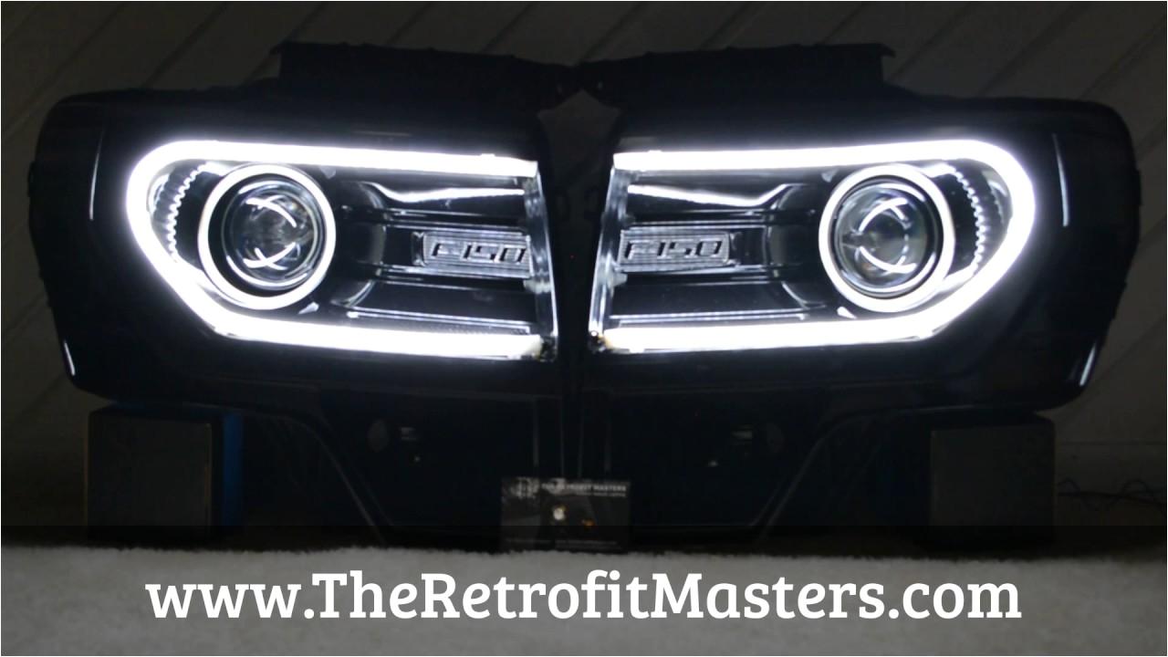 ford f 150 oem hid headlights w switchback led tube 2009 2014