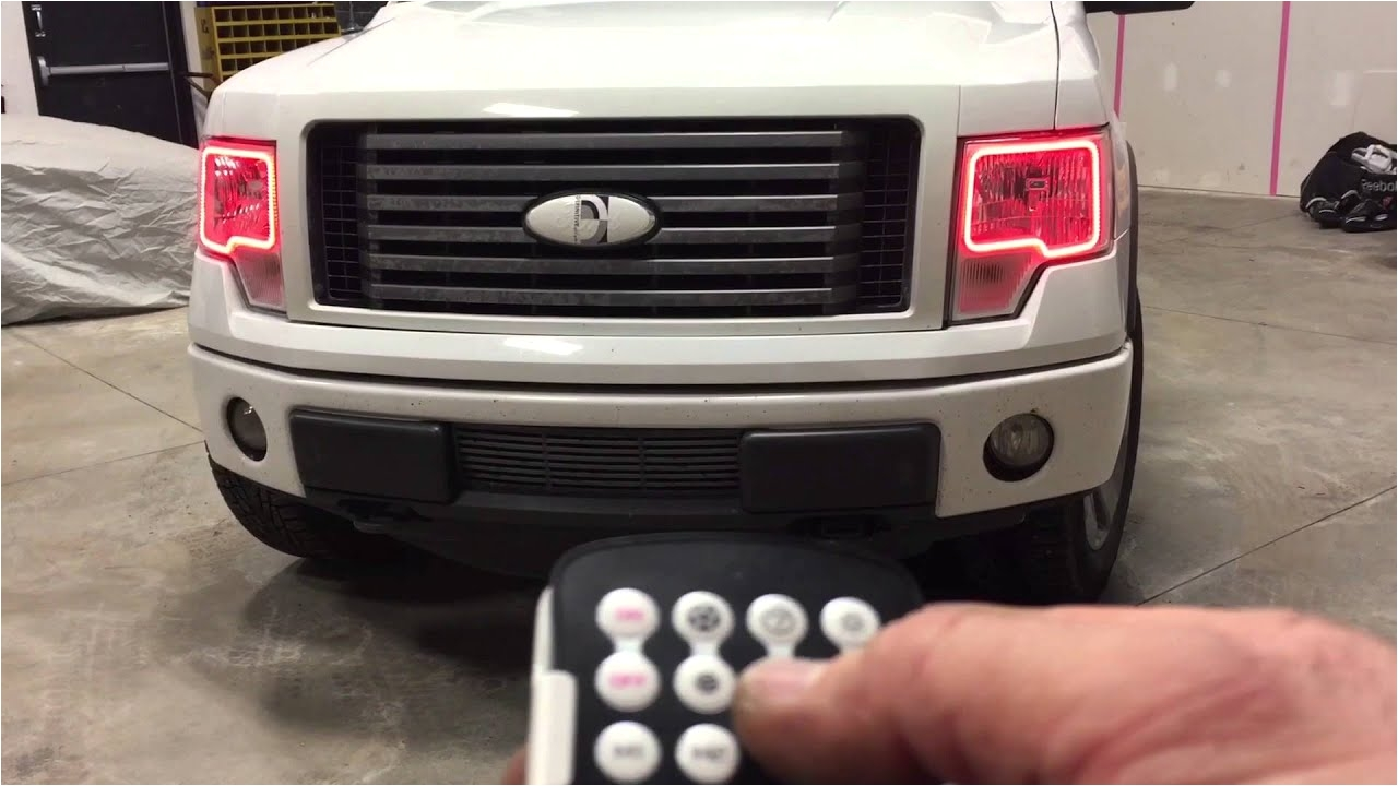 oracle colorshift halo headlights in ford f 150 airdrie auto trends youtube