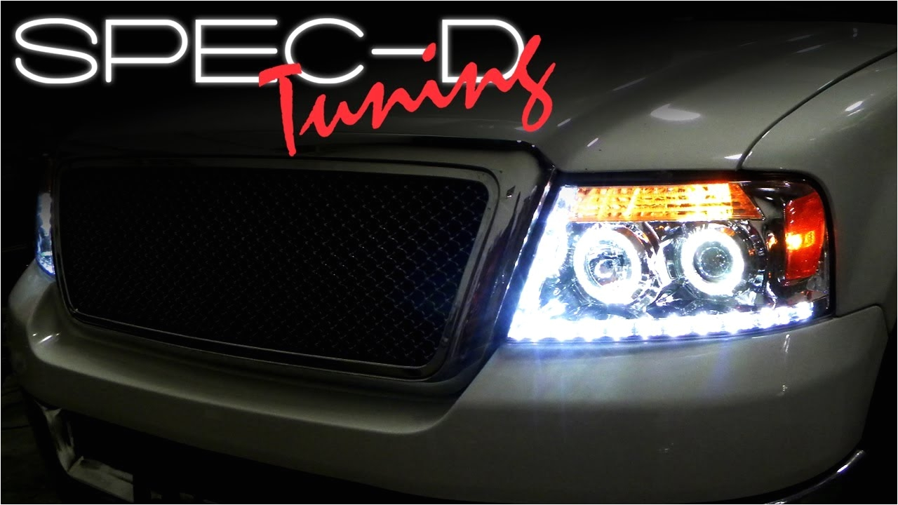 specdtuning installation video 2004 2008 ford f150 projector headlights youtube