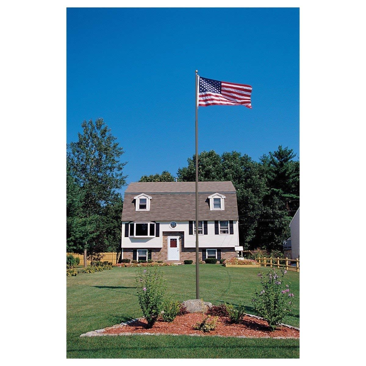 Flag Pole Lights solar Powered Amazon Com topflight Telescoping 20ft Flagpole Bronze 20 Ft